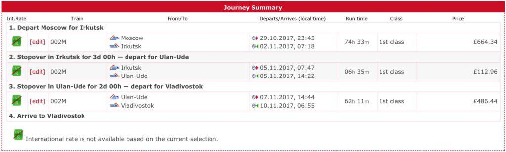 journey summary