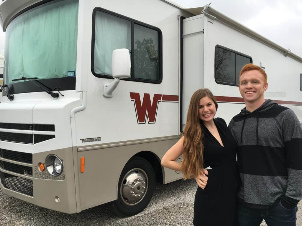 Heath and Alyssa and merica the RV