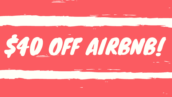 $40 off airbnb