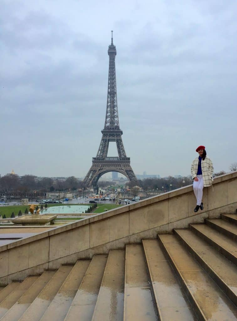 Maria by the Eiffel Tower